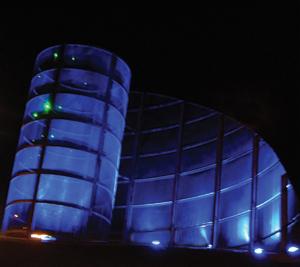 Haverhill's Laser-lit Roundabout